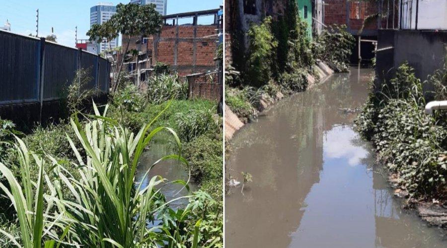 [Comunidade de Pernambués solicitam limpeza e roçagem em canal de esgoto]