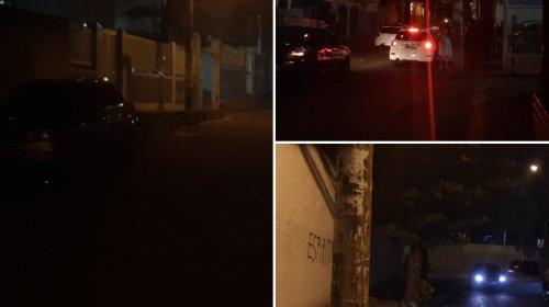 [Ruas escuras geram riscos e medo aos moradores da Boca do Rio]