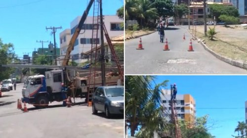 [Postes e lâmpadas são trocados na Boca do Rio após denúncia]