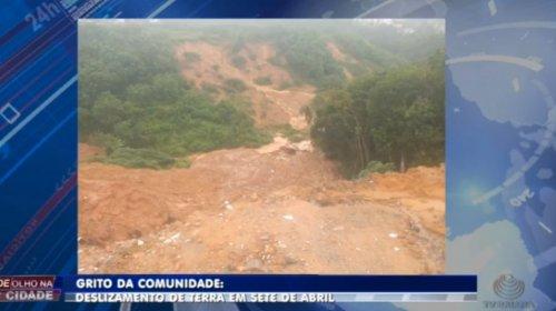 [Moradores temem outro deslizamento de terra em Sete de Abril ]