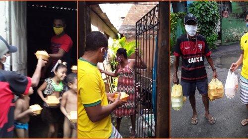 [Movimento Solidário distribui cerca de 50 pratos de comida para moradores da Vila Ruy Barbosa]