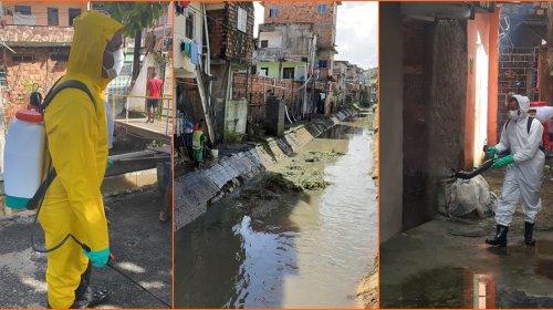 [Movimento Solidário: Mutirão de limpeza e dedetização realizado em diversas ruas de Pernambués]