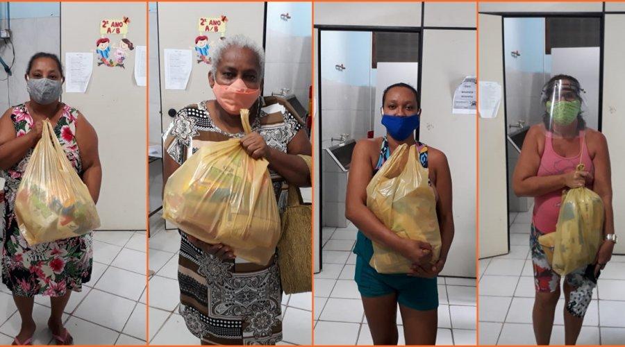 [Ação em parceria entrega cestas básicas a famílias do Vila Ruy Barbosa durante pandemia]