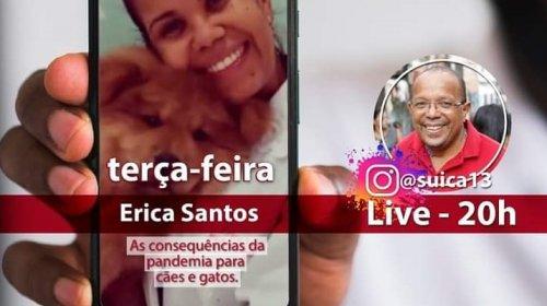 [Dra. Erica Santos participa da live com Suíca, para falar sobre a saúde dos pets e as consequê...]