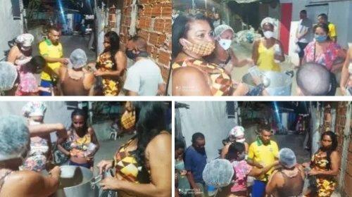 [Sopão Solidário: União Santa Cruz distribuiu mais de 100 sopas para moradores do Pé Preto, no...]