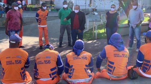 [Suíca participa de assembleia entre SindlimpBA e trabalhadores de limpeza urbana da capital ]