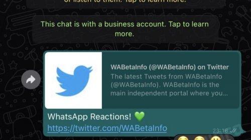 [Whatsapp vai ganhar opção de reações a mensagens, veja como será]