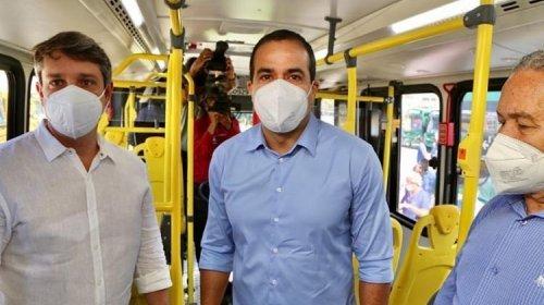 [Bruno Reis reconhece tarifa elevada nos ônibus e cobra auxílio do Governo Federal]