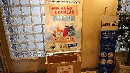 [Secretaria de Promoção Social e Combate à Pobreza realiza campanha de arrecadação de alimentos em Salvador]