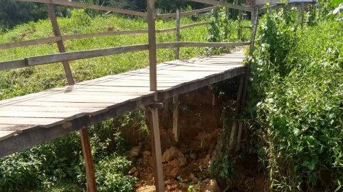 [Moradores pedem reforma urgente de ponte em Nova Constituinte ]