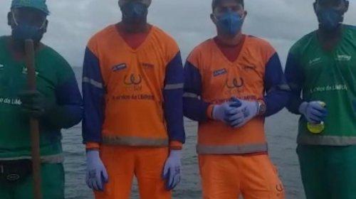 [Vídeo: Estamos trabalhando para que vocês fiquem em casa, respeitar a quarentena é salvar vidas, diz trabalhador de limpeza urbana ]
