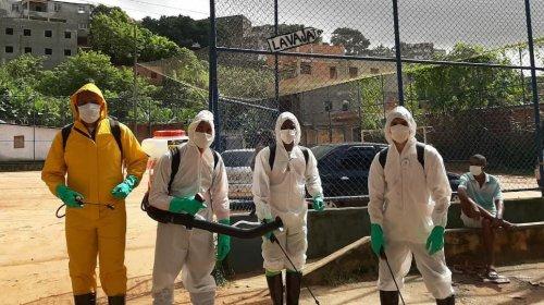 [Higienização das ruas de Pernambués tranquiliza população durante pandemia do Coronavírus]